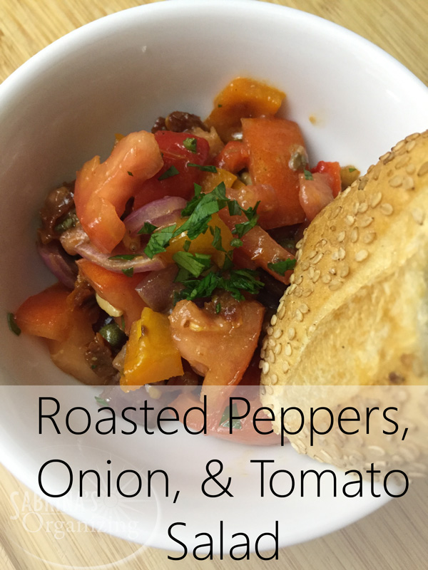 Roasted Peppers, Onion, and Tomato Salad