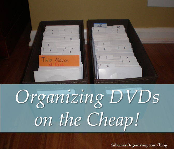 Organizing DVDs on the Cheap