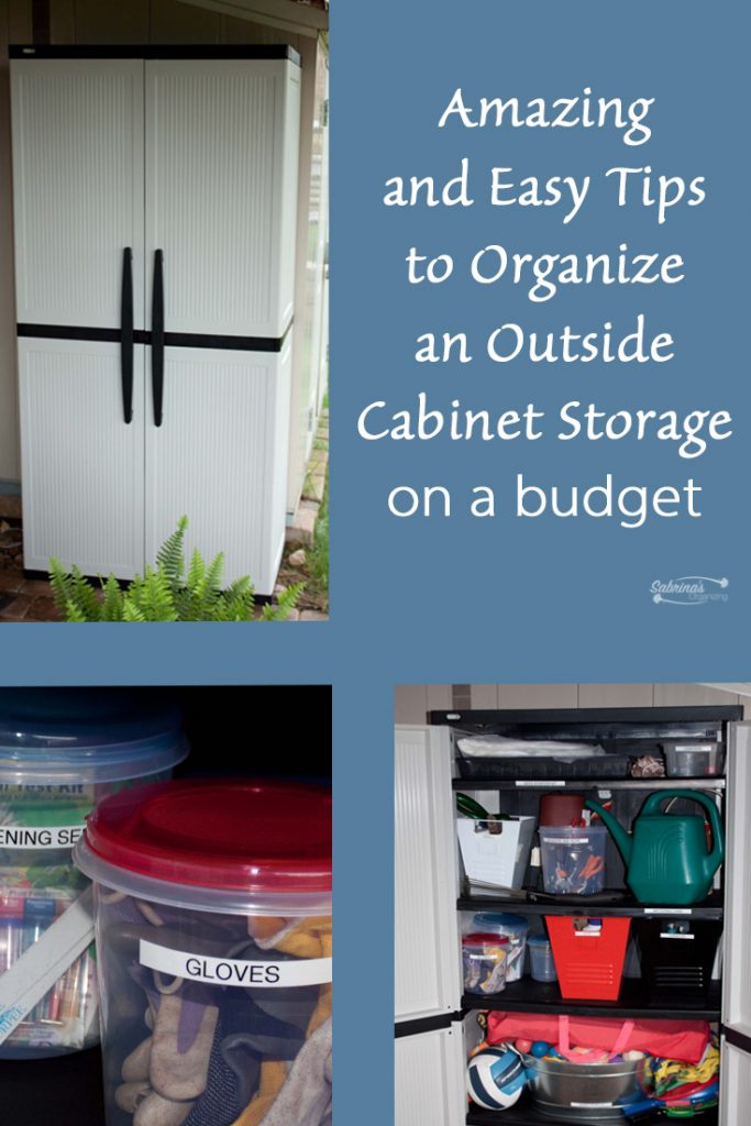 Amazing and Easy Tips to Organize an Outside Cabinet Storage on a budget