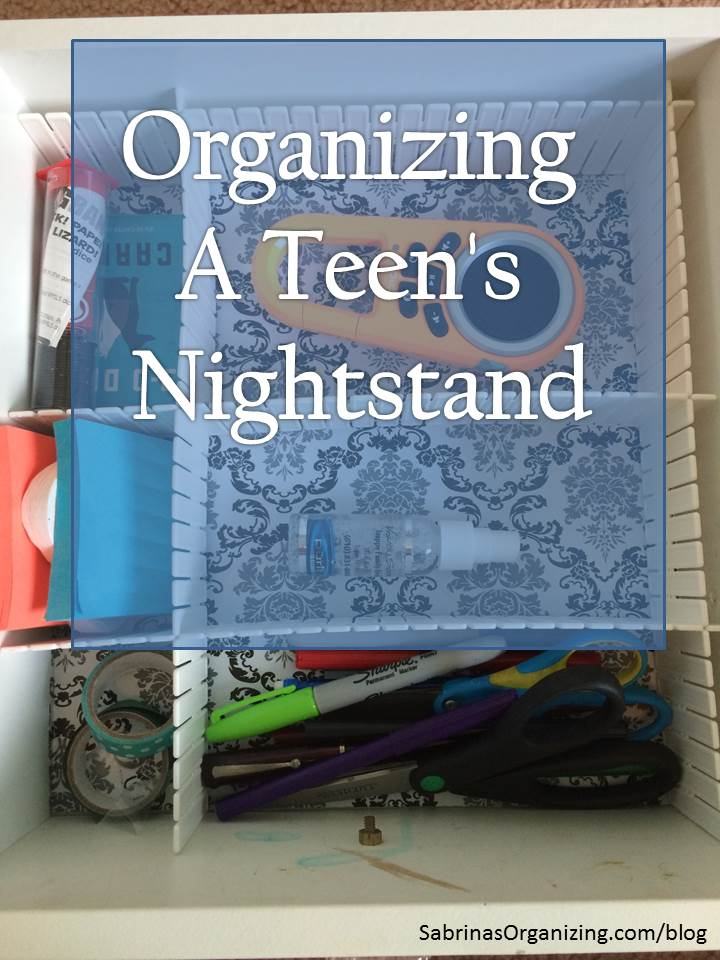 Organizing a Teen's Nightstand