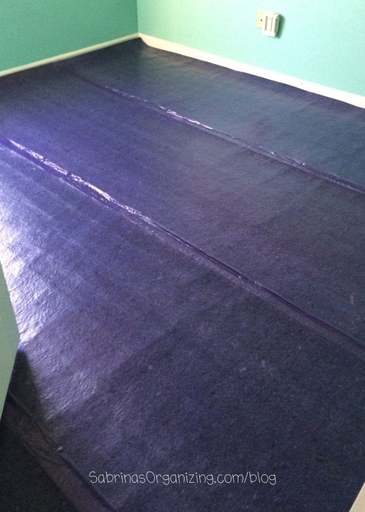 installation of underlayment