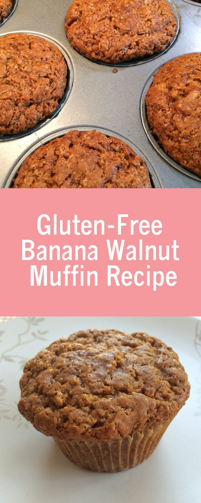Gluten Free Banana Walnut Muffin recipe