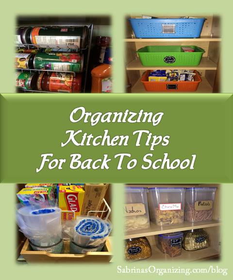 Organizing Kitchen Tips For Back To School