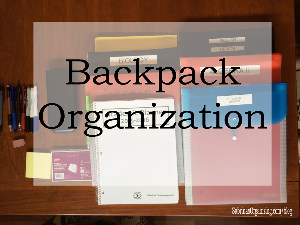 backpack organization