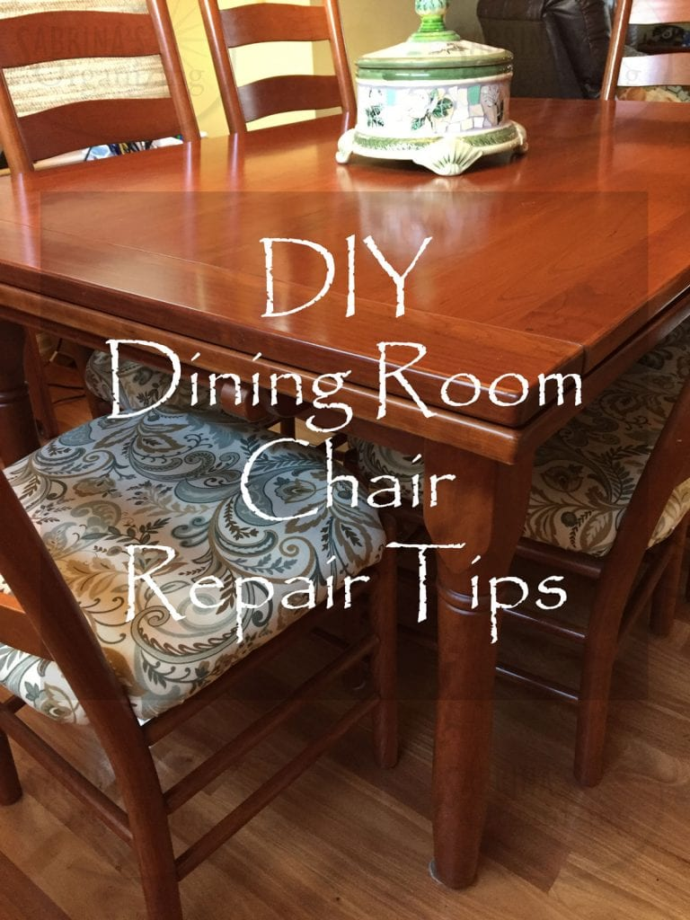 Amazing Diy Repair And Reupholster Dining Room Chair