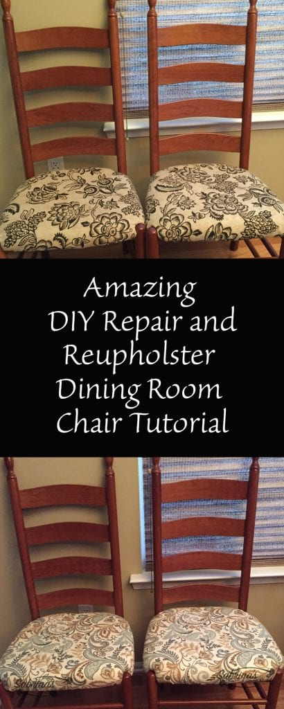 Amazing DIY Repair and Reupholster Dining Room Chair ...