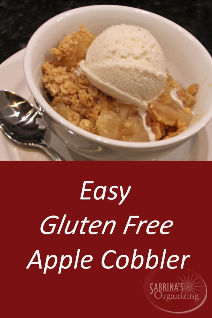 Easy Gluten Free Apple Cobbler | Sabrina's Organizing #recipe #dessert