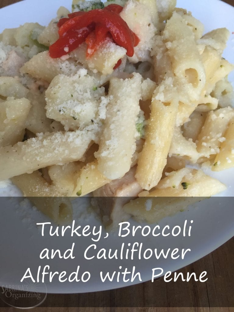 Turkey, Broccoli and Cauliflower Alfredo with Penne