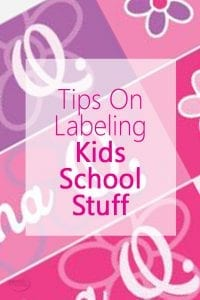 Tips on Labeling Kids School Stuff