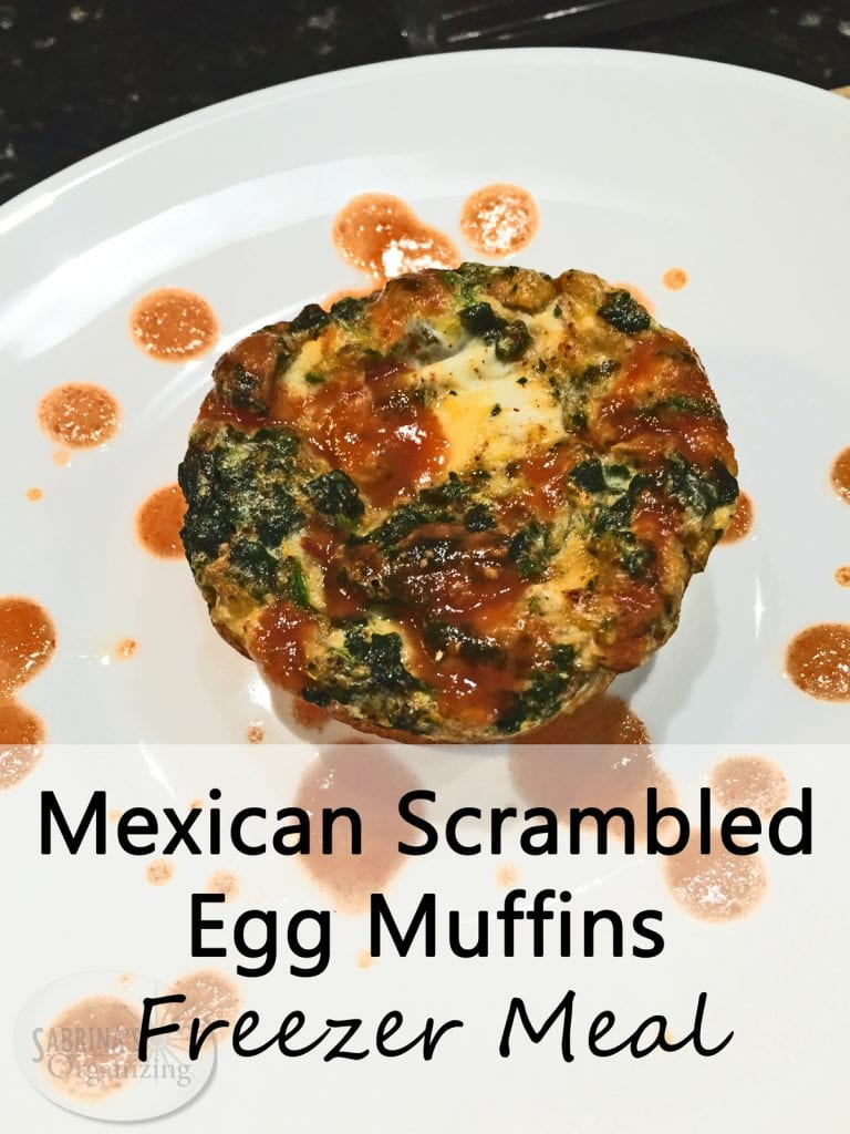 Mexican Scrambled Egg Muffins Freezer Meal