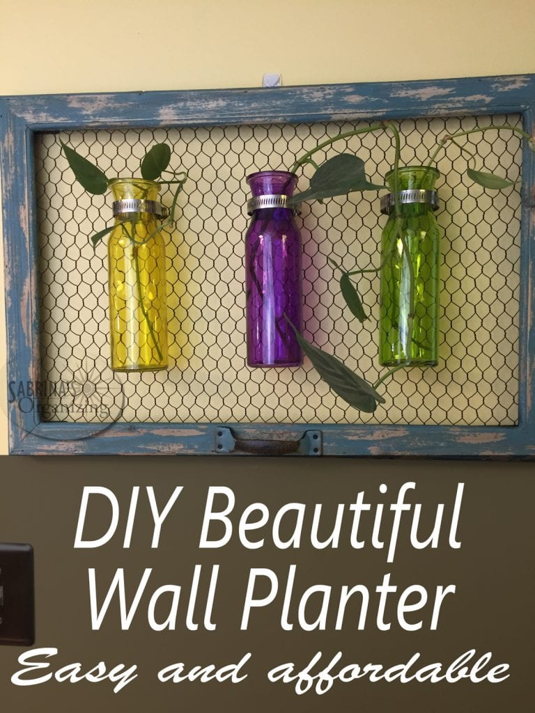 DIY Beautiful Wall Planter Easy and Affordable