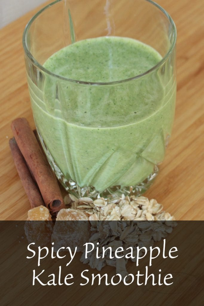 Spicy Pineapple Kale Smoothie
