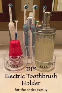 DIY Electric Toothbrush Holder for the entire family