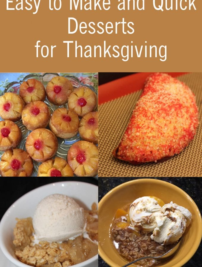 4 Easy to Make and Quick Desserts for Thanksgiving