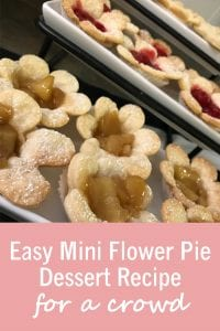 Easy Mini Flower Pie Dessert Recipe for a crowd