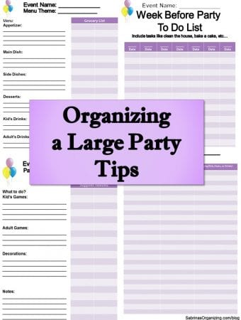 Organizing a Large Party Tips