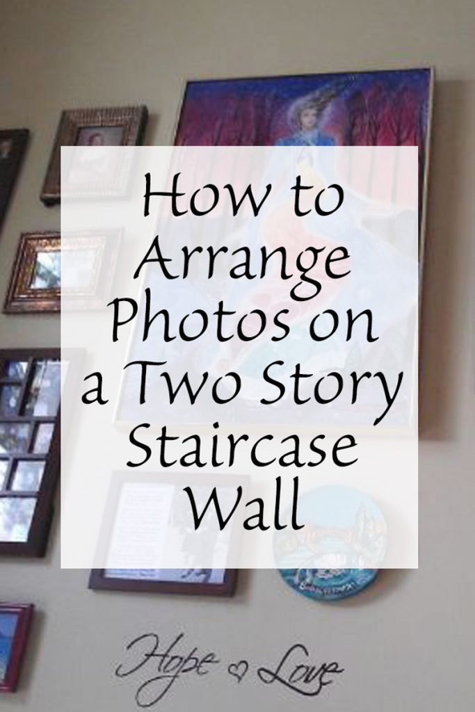 How To Arrange A Living Room With A Fireplace: How To Arrange Photos On A Two Story Staircase Wall