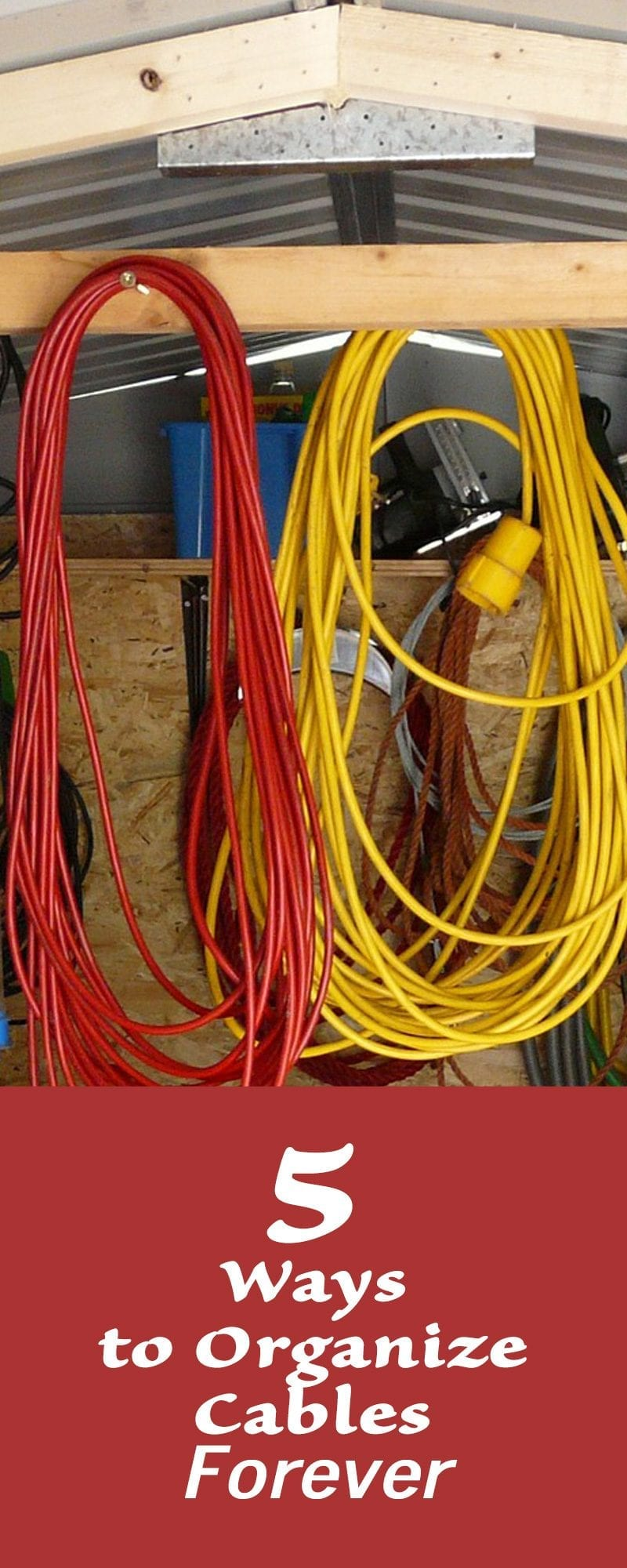 5 ways to organize cables forever