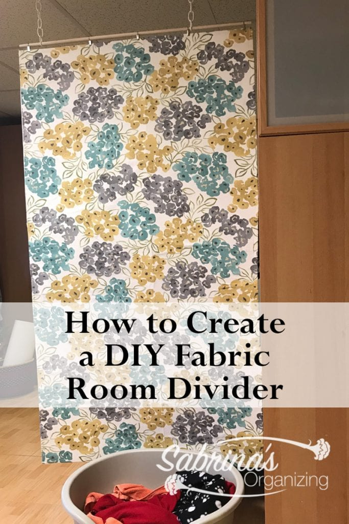 How To Create A Diy Fabric Room Divider Sabrina S Organizing