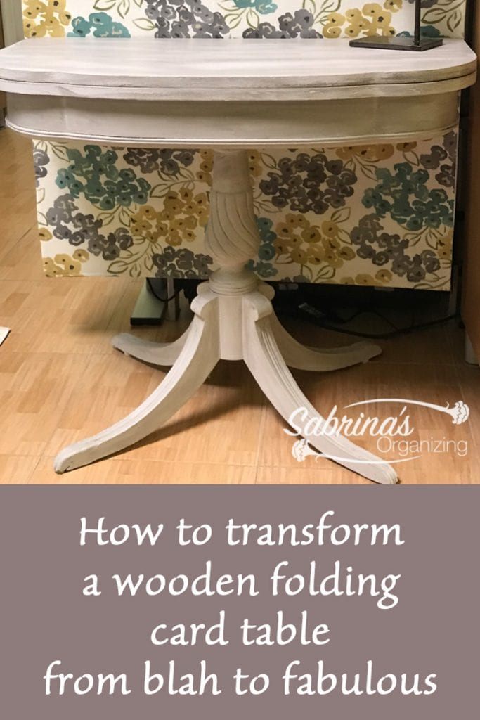 How To Transform A Wooden Folding Card Table From Blah To