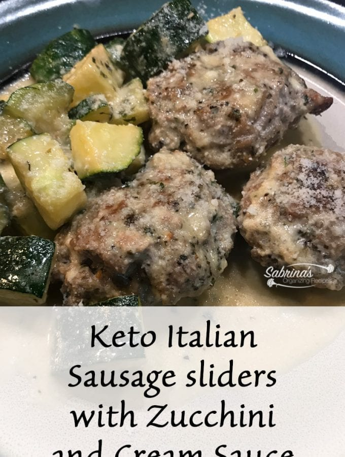 Keto Italian Sausage sliders with Zucchini and Cream Sauce Recipe