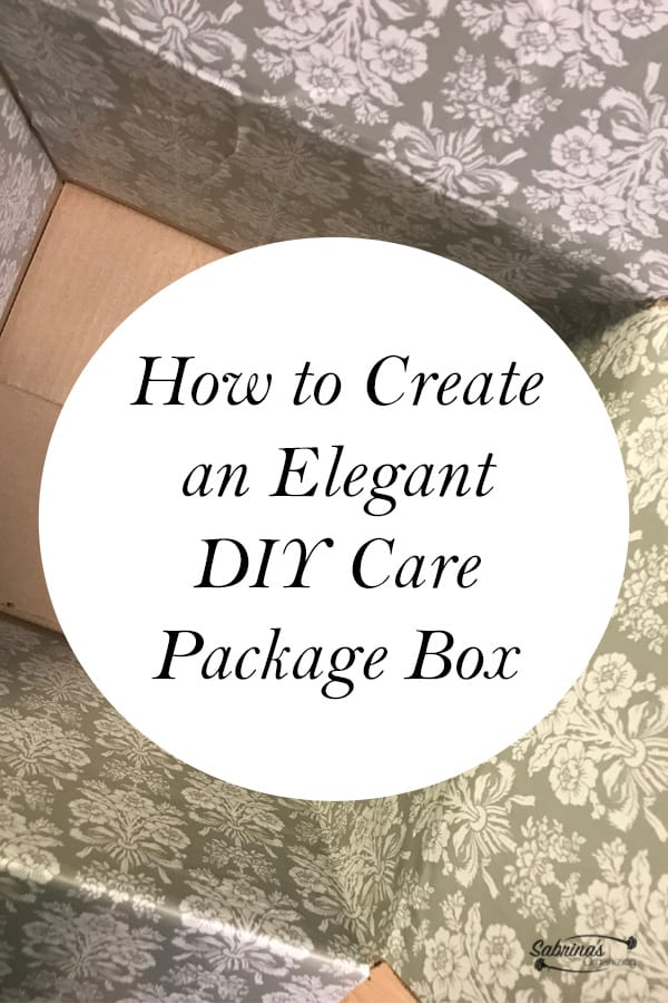 How to Create an Elegant DIY Care Package Box