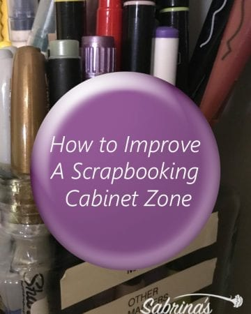 How to Improve A Scrapbooking Cabinet Zone