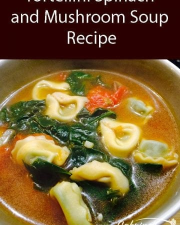 Tortellini Spinach and Mushroom Soup Recipe
